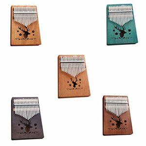fgjhfghfjghj 17 touches Kalimba placage acajou pouce Piano Mbira naturel Mini clavier instrument de musique