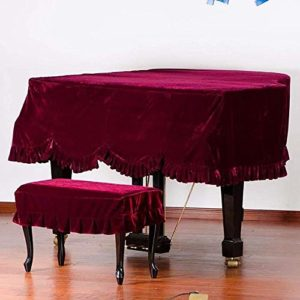 G-AO Couverture de piano épais anti-poussière triangle couverture complète des selles couverture velours tissu couverture de piano à queue housse de protection en tissu de recouvrement de piano (coule