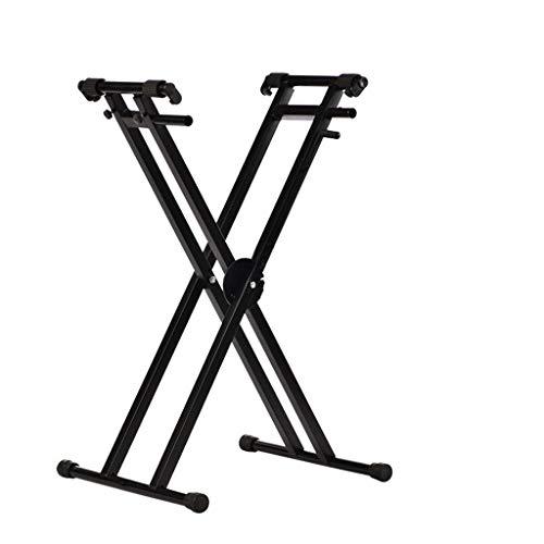 GDGQJRM Support de Clavier Guzheng Piano Support, Universal-Cadre X Stand Piano Portable, Pliage Vertical Cadre de Support, Facile à Transporter
