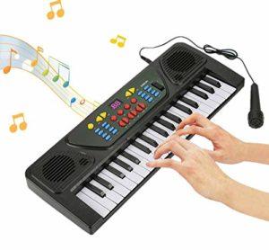 Jadpes Clavier électrique Piano numérique, 37 Touches Clavier numérique électrique Clavier Instrument de Musique pour Enfants Jouet avec Microphone pour Jouer du Piano Musical intérieur ou extérieur