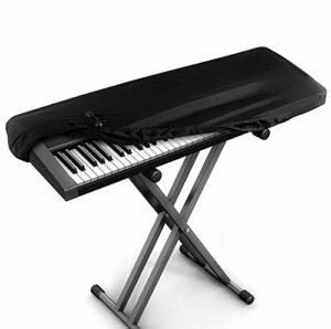 Kaxich Antipoussière Housse de Protection pour 88 Touches Clavier Piano, Couverture de Piano Electronique avec Cordon, Universel Couverture Protecteur pour Piano Numérique et Console