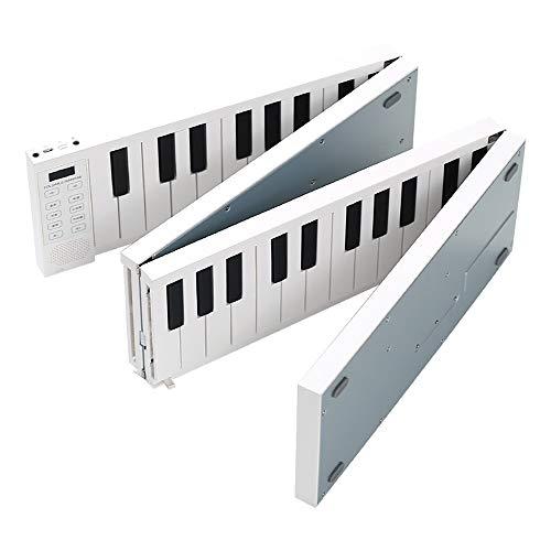 Leepesx Pliable Piano Numérique Portable Clavier Electronique Piano pour Etudiant Instrument de Musique