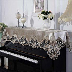 MELLRO Piano Vertical Couverture Piano Dentelle Universel Piano Serviette de Broderie Tissu Tissu Art Plus Pleuche Décorée (Color : A, Size : S)
