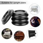 Mxtech Dessous de Verre, Coussinets de Pied de Piano, Coupes de Roue de Piano, Piano en Bois Dur 4 pièces(Black)