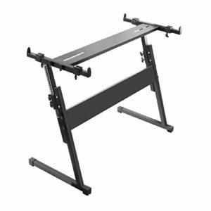 Nai-tripod en Forme de Z Stand Piano Portable, 54 61 76 88 Key épaissie Piano Stand, Instrument de Musique Support Universel Capable de soulever (Color : Black)