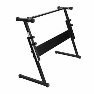 Nai-tripod en Z Stand Electronic Piano Stand Clavier, 54 61 Touches relevable Piano Stand, Stand Piano Performance Portable (Color : Black)
