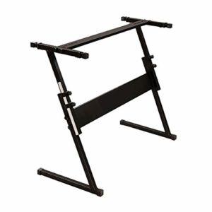 Nai-tripod Piano relevable en Forme de Z-Stand réglable en Hauteur 54/61-clé Stand Clavier, Performance enseignement Support Instrument (Color : Black)