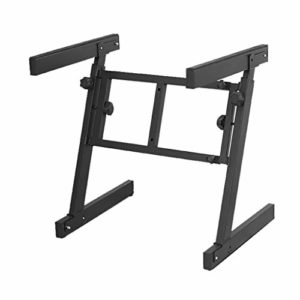 Nai-tripod Stand Pliable Piano en Forme de Z, 61 88 Notes Support Piano électrique Support Universel, Ménage Orgue électronique Shelf (Color : Black)