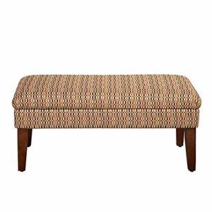 NEHARO Tabourets firme de Design Tissu Banc de Rangement supérieur de Levage Rectangle ottomanes-Pieds Pieds en Bois Massif et des Garnitures Nailhead (Couleur, Taille : 105.5x47x45.5cm)