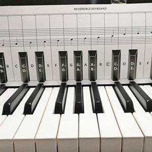 Opfury Piano Chord Chart Piano Autocollants pour 88 touches blanches et noires Piano Practice Clavier Note Chart Piano Kit d'aide à l'apprentissage pour les débutants derrière les touches de piano