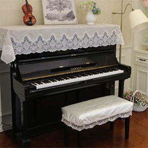 Piano vertical Couverture Tissu bande anti-poussière propre 90x180cm Linen Universal Piano Lace antipoussière décoratif demi-couvercle Tissu Art Plus Pleuche Décorée ( Color : B , Size : Free size )