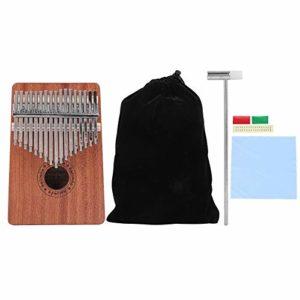 Pouce portable 17 pouces Piano Sapele Pouce Kalimba avec touches numériques pour enfants débutants adultes
