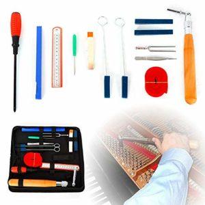 Savada Kit d'outils de tuning pour piano professionnel 14 pièces