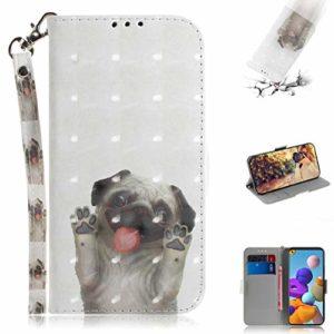 SHUYIT Coque pour Samsung Galaxy A21s Étui Housse en PU Cuir Portefeuille avec Fentes de Cartes Fonction Support Magnétique Coloré 3D Flip Case Cover Etui pour Samsung Galaxy A21s Coquille