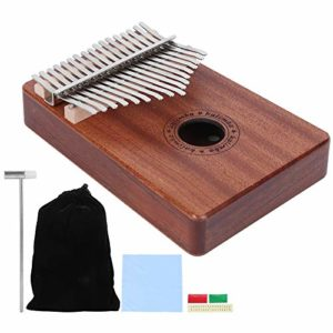 Thumb Piano, Portable Finger Harp Sapele Kalimba set, with Hammer for Beginner for stage Performance for professional for studio