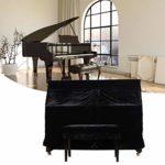tidystore Piano complète pour Piano à Queue Verticale étanche Couverture de Piano étanche au Soleil, étanche à la poussière, 60 × 13,7 × 43 Pouces/L W H