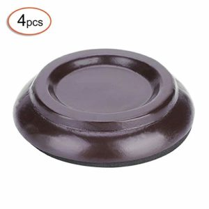 Weiyiroty Coasters Cups, Solid Piano Foot Pads, Piano Wheel Cups, Round Wood Round Wood Upright Piano for Hardwood(Brown)