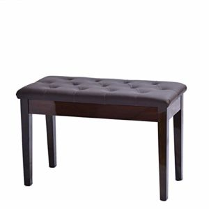 YAzNdom Tabouret De Piano Double Piano Tabouret Livre Boîte en Bois Massif Sac Souple Guzheng Tabouret for Concert Performer Convient pour La Pratique du Piano (Color : Walnut, Size : 76x36x48CM)