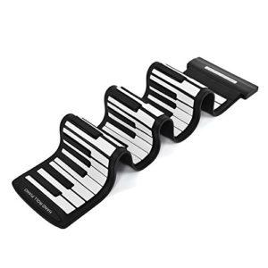 YINUODAY Roll up Piano 61 Touches Usb Rechargeable Piano Électronique Rouleau à Main Piano Portable Silicone Environnemental Clavier Pliable Clavier pour Débutants