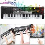 Clavier électronique portable avec microphone, jouet de piano électronique, clavier de piano numérique à 61 touches pour débutants, enfants, garçons et filles, clavier électronique pour enfants