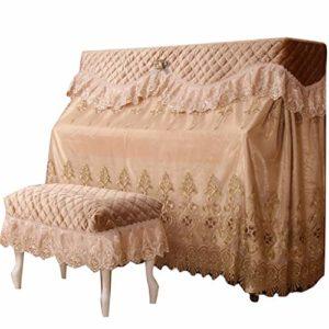 Couverture européenne du piano Couverture complète Princesse Simple Piano Half Cover Couverture européenne continentale Serviette Piano Set Dust Cloth (Color : A, Size : Piano cover+1 stool cover)