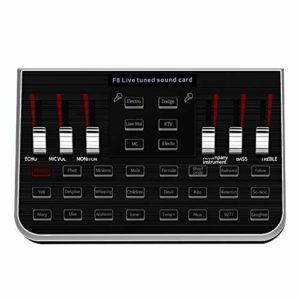 Domilay SynthéTiseur Musique Tuning Carte Son Audio éQuipement Chant TéLéPhone Portable Ordinateur Microphone Conversion Vocale