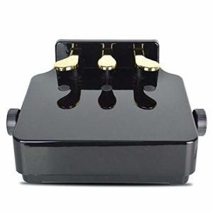 EXCLVEA Débutants Extender Bench Enfants Universal Piano Pédale Extender Banc avec 3 pédales à Hauteur réglable auxiliaire Pédale de Piano for Enfants (Couleur : Noir, Taille : 38x28cm)
