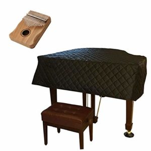 G-AO Housse De Piano À Queue Noire Imperméable À L'eau Triangle Moelleux En Nylon Personnalisé Avec Fentes Latérales Protection Anti-poussière Pour Piano, Housse De Protection Pour Piano (taille: 210