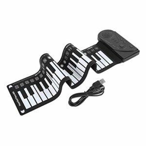 Haut-parleur intégré Piano à roulettes, clavier pliant Piano flexible, matériau ABS Mini Piano Soft Piano portable enfants pour débutants,