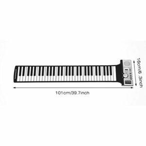JICHUIO 61 touches 128 sons enroulent clavier de Piano électronique clavier numérique portable Piano Instrument de musique Rechargeable Flexible