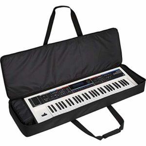 Kabalo Sac de transport rembourré noir pour clavier électrique avec 61 touches de protection