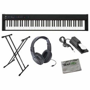 Korg D1 Slimline Piano numérique de scène 88 notes avec pédale de sustain et support,
