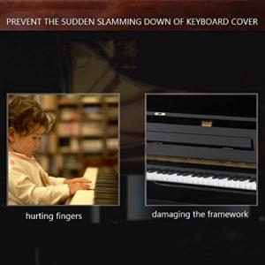Neel Dispositif de Couverture de Piano sûr et Durable, 100% Tout Nouveau matériau métallique Couvercle de Piano Dispositif de contrôle de Descente, Maison de Concert pour(Black)