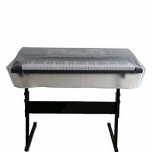 QEES Housse pour clavier de piano étanche à la poussière pour clavier électrique 61/73/76/88 notes, housse de protection pour piano numérique 88 Keyboard translucide