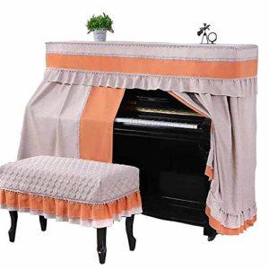 SUKDO Housse de Piano Droit, Housse décorée Respirante Anti-poussière pour Piano Colorfast (Couleur : Bleu, Front Cover Taille : Housse de Chaise de Piano),B1