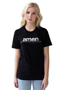 T-shirt DJ – Amen – Minimaliste Bass Drum Rythm Machine Synthétiseur Bass Synth Music Drum & Bass Printed Tee Top – Noir – XXXX-Large