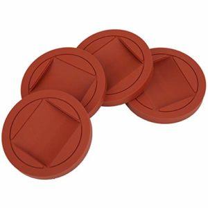 4 Pcs Rouge En Caoutchouc Piano Caster Tasses Antidérapant Durable De Protection pour Piano Debout Tapis Instrument de Musique Accessoires