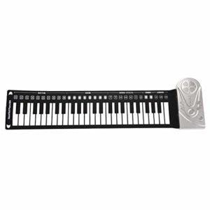 49 Touches Roll Up Piano Portable Pliant Support de Clavier électronique Enregistrement et Lecture Piano électronique Flexible pour Enfant Adulte