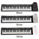 49 Touches Rouler Piano Portable Pliable Clavier Électronique Support Enregistrement et Lecture Flexible Piano Électronique pour Enfant Adulte