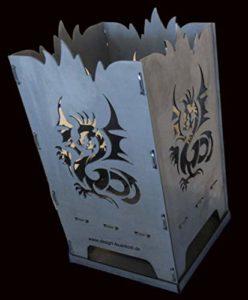 Brasero design Dragon Dragon en acier 40 x 40 x 80 cm