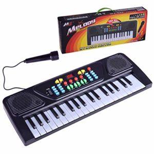 Clavier de piano pour enfants, clavier de piano portable à 37 touches, instrument de musique électronique avec microphone pour les enfants, apprentissage précoce de la musique, jouet éducatif