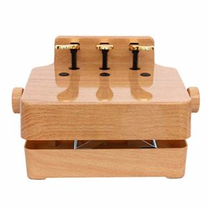 FHLH Accessoire d'aide à l'enseignement Universal Enfants Lift Piano Pédale auxiliaire Pédale Booster Piano pédale de Sustain pour Les Enfants (Couleur : Wood, Size : 38x28cm)