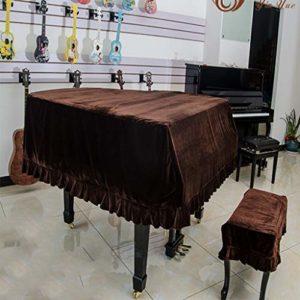 G-AO Anti-poussière couverture épaisse couverture de piano tissu velours de couverture de selles de couverture complète du triangle de couverture de piano velours piano à queue couvercle de piano Yama