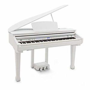 GDP-100 Piano a Queue Numerique par Gear4music blanc brillant