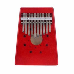 Homeofying Piano Portable en Bois 10 Touches Kalimba Pouce Mbira Doigt Instrument de Musique pour Les Amateurs de Musique Red