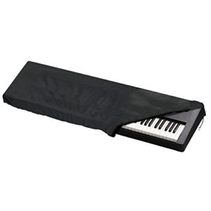 JTDEAL Housse/Couverture de Piano, Antipoussière Housse de Protection pour 88 Touches Clavier de Piano Électronique avec Cordon pour Piano Numérique, Yamaha, Casio, Roland, Consoles(Noir)