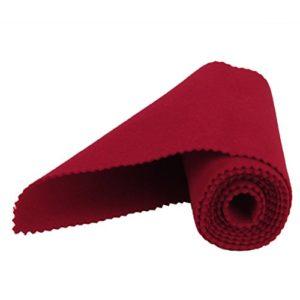 LEORX 128 x 15 cm-Piano Jenart Housse de protection avec chiffon de nettoyage porte-clés Rouge