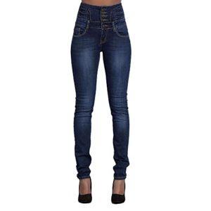 Manadlian-Pantalon Femme Taille Haute – Femme Denim Pantalons Taille Haute Jeans Slim Leggings Collant Crayon Pants