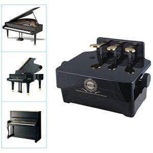 Paracity Piano Pédale Extender Hauteur réglable Piano Pédale Extender avec 3Pédale pour enfant enfants Teacher Assist… noir