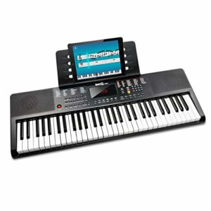 RockJam Clavier électrique portable 61 touches avec alimentation, support pour partitions et application simple pour piano
